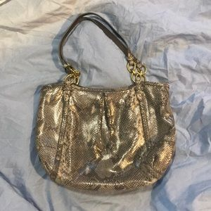 Coach grey snakeskin handbag